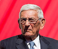 Eli Broad in the civic dedication at The Broad on September 18, 2015 in downtown Los Angeles.  The Broad, the contemporary art museum built to house the 2,000-piece collection acquired over decades by billionaire philanthropist Eli Broad and his wife, Edye. (Photo by Ringo Chiu/PHOTOFORMULA.com)