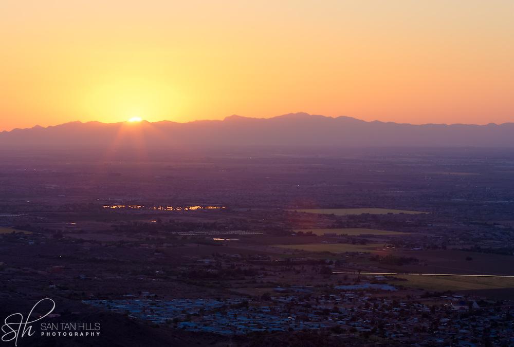 Sunset over Phoenix, AZ