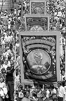 Silverwood banner, 1984 Yorkshire Miner's Gala. Wakefield.