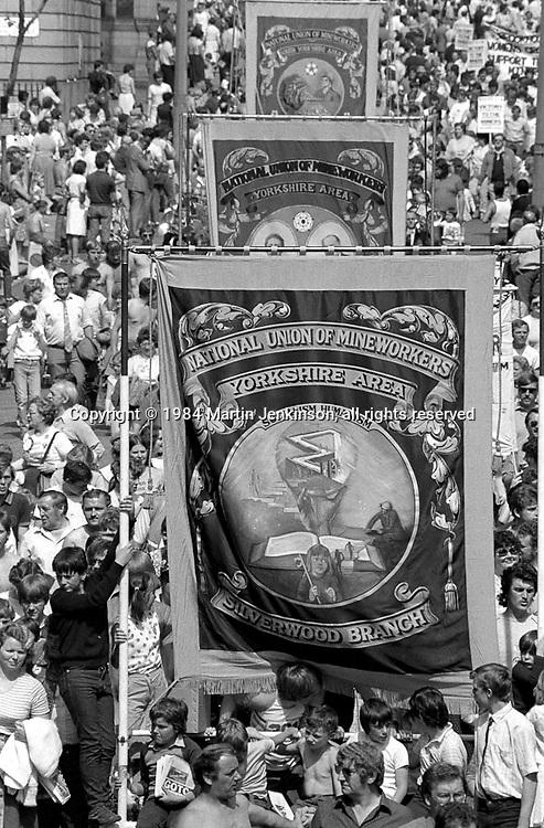 Silverwood banner, 1984 Yorkshire Miner's Gala. Wakefield.