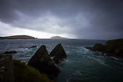 View of the Blasket Islands, Beginish and  Inishtooskert from Dunquin Pier, Dingle Peninsula, Ireland