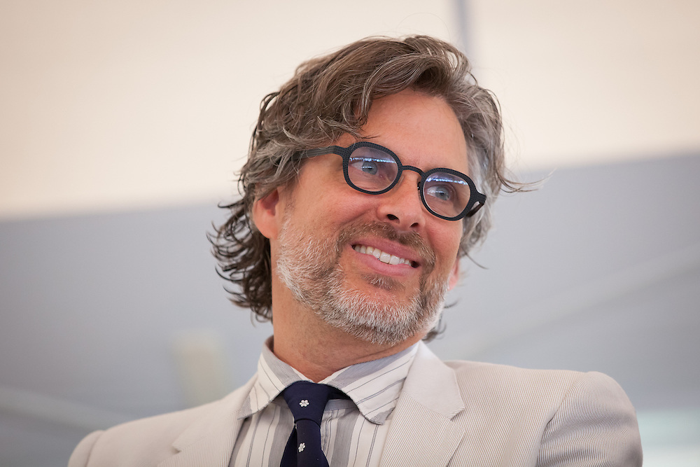 "MacDowell Colony Chairman and author Michael Chabon is pictured during a ceremony awarding Broadway composer and lyricist Stephen Sondheim the Edward MacDowell Medal for lifetime achievement, at the MacDowell Colony, in Peterborough, NH on Sunday, August 11, 2013. Sondheim has won more Tony Awards than any other composer. His hit musicals include ""Follies,"" ''A Little Night Music"" and ""Sweeney Todd."" (Matthew Cavanaugh Photo)"