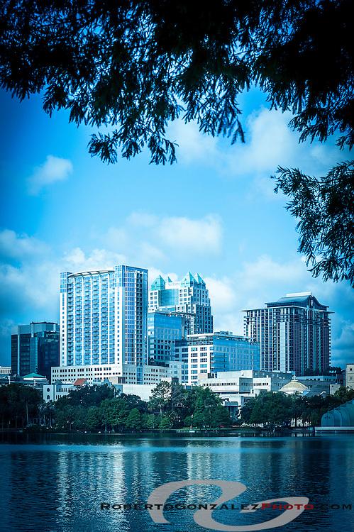 Orlando skyline Lake Eola, photo by Roberto Gonzalez