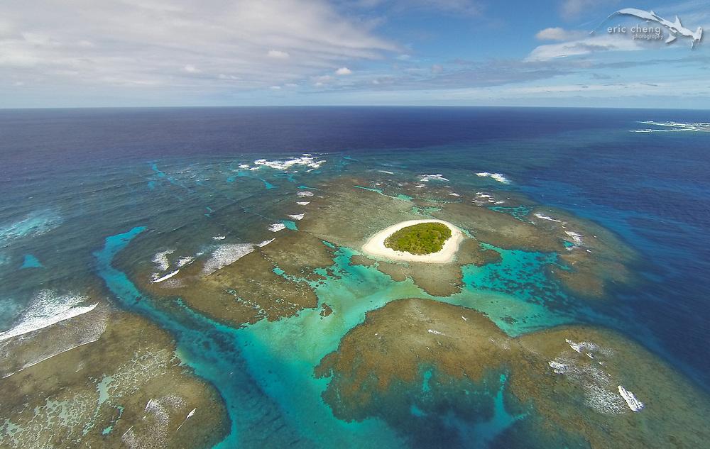 Aerial shot of Fonuafo'ou, Vava'u, Tonga