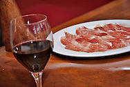 Spanish Jamon Serrano or Ham in a restaurant, Spain