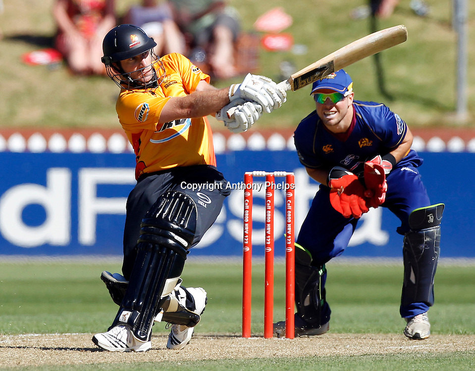 Firebirds' Chris Nevin during their win in the Twenty20 Cricket - HRV Cup, Firebirds v Volts at the Basin Reserve, Wellington, 04 December 2010. Photo: Anthony Phelps/PHOTOSPORT