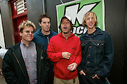 Hoobastank backstage at the K-Rock Dysfunctional Family Picnic at Jones Beach Theater in New York on June 8, 2002. Photo by Scott Gries/PictureGroup