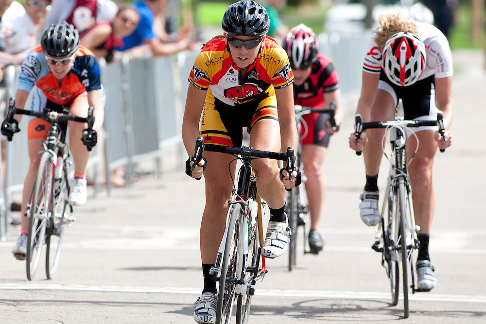 Natalie Klemko (Rouse Bicycles) takes the win in the Womens race.