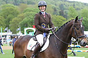 Caroline Basnett on Justice RV winner of the Dubarry Burghley Young Event Horse 4Yo during the International Horse Trials at Chatsworth, Bakewell, United Kingdom on 11 May 2018. Picture by George Franks.