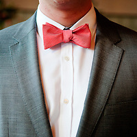 Detail of Matt's bowtie at his Chicago wedding.