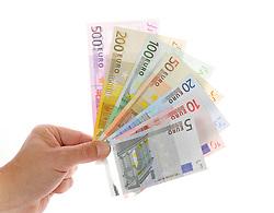 28.01.2012, THEMENBILD PAKET, GER, Euro Krise, Banknoten, im Bild diverse EURO-Banknoten, Fächer. EXPA Pictures © 2012, PhotoCredit: EXPA/ Eibner/ Weber ATTENTION - OUT OF GER *****