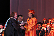 Senior Jasmine Marie Jones receives her diploma during the Stivers School For The Arts commencement at the Dayton Masonic Center, Saturday, May 19, 2012.