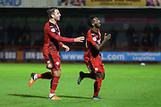 Roarie Deacon of Crawley Town celebrates his winning goal during the Sky Bet League 2 match between Crawley Town and Stevenage at the Checkatrade.com Stadium, Crawley, England on 26 December 2015. Photo by Phil Duncan.