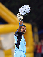 CENTURION, SOUTH AFRICA - 9  January 2009, Gulam Bodi celebrates his 50 during the MTN Domestic Championship Semi Final match between The Nashua Titans and The Nashua Cape Cobras held at SuperSport Park, Centurion, South Africa..Photo by Barry Aldworth/SPORTZPICS