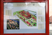 Malbork (Marienburg) Castle Poland Tourist information sign