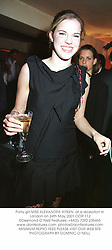 Party girl MISS ALEXANDRA AITKEN, at a reception in London on 24th May 2001.		OOR 112