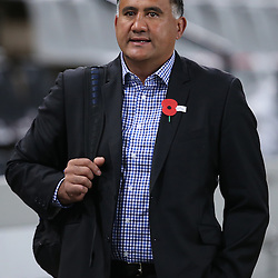DURBAN, SOUTH AFRICA - APRIL 25: Jamie Joseph (Head Coach) of the Highlanders during the Super Rugby match between Cell C Sharks and Highlanders at Growthpoint Kings Park on April 25, 2014 in Durban, South Africa. (Photo by Steve Haag/Gallo Images)
