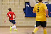 Wattcell Futsal Club (red and white) v TMT Futsal Club (yellow) in the Scottish Futsal Cup Final at Perth College, Perth, Photo: David Young<br /> <br />  - © David Young - www.davidyoungphoto.co.uk - email: davidyoungphoto@gmail.com