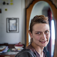 Nederland, Amsterdam, 7 maart 2016.<br />Jannah Loontjens (1974) is schrijfster, dichteres en filosofe. Ze werd geboren in Denemarken en woonde als kind in Zweden.<br /><br /><br /><br />Foto: Jean-Pierre Jans