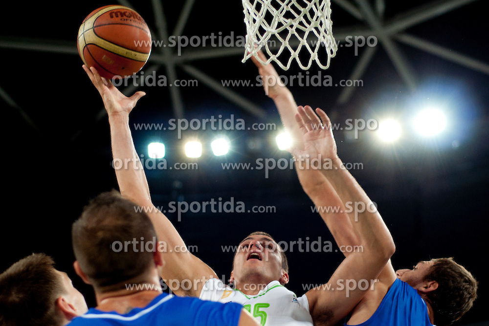 Jure Balazic of Slovenia during friendly basketball match between National teams of Slovenia and Bosnia i Hercegovina of Adecco Ex-Yu Cup 2012 as part of exhibition games 2012, on August 3rd, 2012, in Arena Stozice, Ljubljana, Slovenia. (Photo by Urban Urbanc / Sportida)