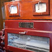 Flour mill machine,  PRN the Livradois-Forez, St. Dier d'Auvergne, Auvergne, France