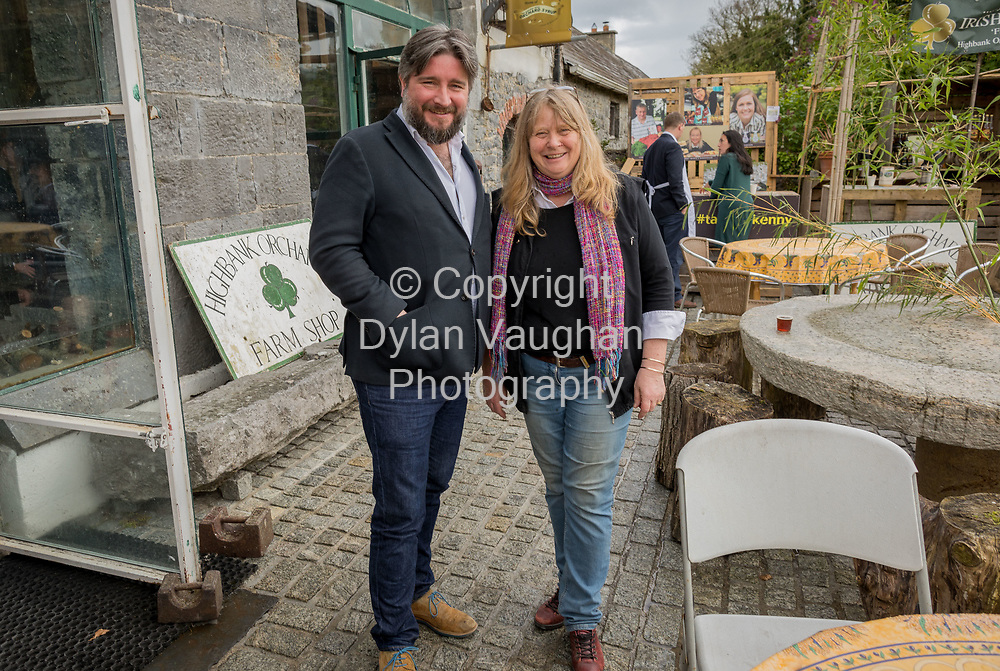 Repro Free No charge for Repro<br /> <br /> 24-4-17<br /> <br /> Helen Carroll of RTE&rsquo;s Ear to the Ground launched the next phase of #TasteKilkenny on Monday, 24th April at a lunch event at Highbank Orchards &amp; Distillery, Cuffesgrange, Co Kilkenny.<br /> <br /> Pictured at the launch were Naoise Nunn, Kilkenny Tourism and  Julie Calder-Potts, Highbank Orchards &amp; Distillery.<br /> <br />  <br /> An afternoon of tasting and presentations took place, including a welcome address by Cllr Matt Doran, Cathaoirleach and an update on the #TasteKilkenny initiative by Fiona Deegan. Followed by the official launch of the #TasteKilkenny website and videos.<br />  <br /> #TasteKilkenny was established as a collective of Kilkenny based producers and outlets to promote the vibrant food scene in Kilkenny and create a platform to showcase the very best of local food production. For more information see: www.TasteKilkenny.ie.<br /> <br /> Picture Dylan Vaughan.