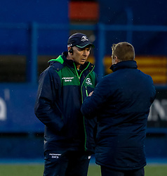 Head Coach Andy Friend of Connacht with John Mulvihill<br /> <br /> Photographer Simon King/Replay Images<br /> <br /> Guinness PRO14 Round 14 - Cardiff Blues v Connacht - Saturday 26th January 2019 - Cardiff Arms Park - Cardiff<br /> <br /> World Copyright © Replay Images . All rights reserved. info@replayimages.co.uk - http://replayimages.co.uk
