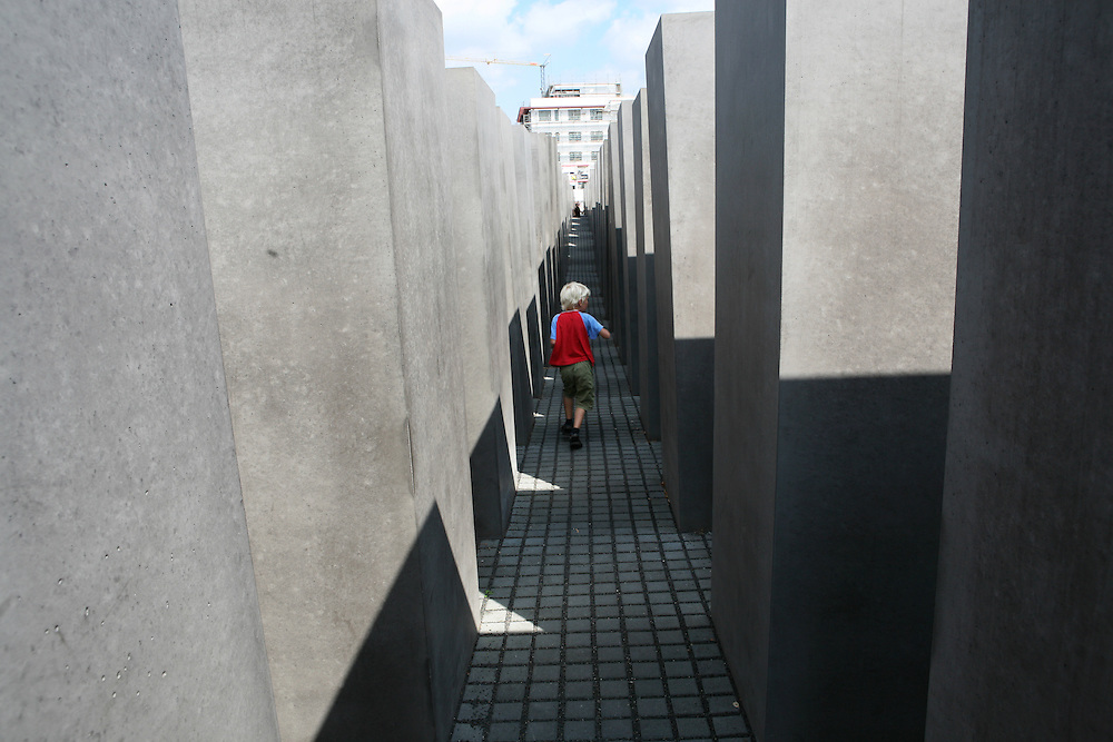 Berlin, Germany, August 2007. Holocaust Memorial designed by the American architect Peter Eisenman.