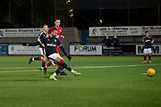 17/10/2017 - Dundee v Falkirk in the SPFL Development League at Links Park, Montrose; Dundee's Marcus Haber scores the equaliser