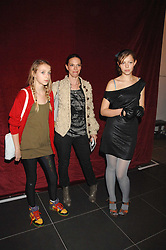 Left to right, AGATHE CHAPMAN, her mother TIPHAINE CHAPMAN wife of artist Dinos Chapman and SERAPHINE CHAPMAN at a party to celebrate the opening of the new H&M store at 234 Regent Street, London on 13th February 2008.<br /><br />NON EXCLUSIVE - WORLD RIGHTS