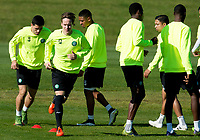 30/09/15<br /> CELTIC TRAINING<br /> LENNOXTOWN<br /> Stefan Johansen trains aehad of facing Fenerbache with Celtic in the UEFA Europa League.