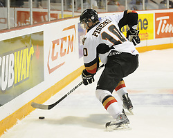 Misha Fisenko of the Calgary Hitmen in Game 2 of the 2010 MasterCard Memorial Cup in Brandon, MB on Saturday May 15, 2010. Photo by Aaron Bell/CHL Images