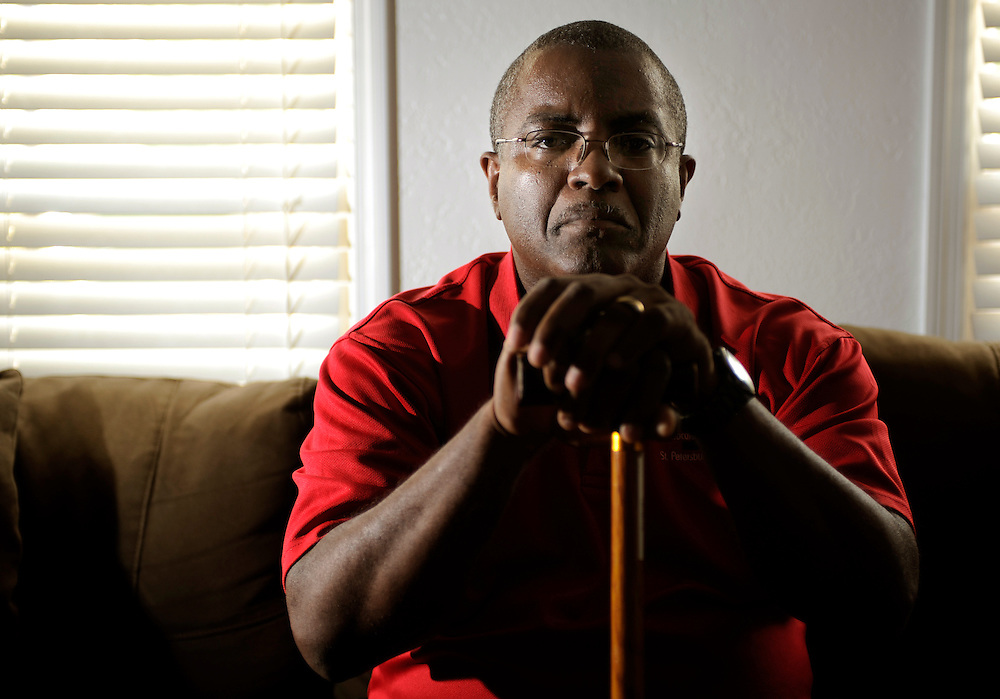 Melvin Ferguson poses for a photograph at his Clearwater home Friday, April 19, 2013. Ferguson is a claims assistant for the Veterans Affairs office at Bay Pines in St. Petersburg. Last year, he filed complaints with the Office of Special Counsel and with the U.S. Merit Systems Protection Board about working conditions at the office.