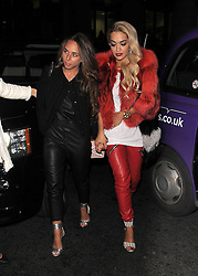Singer Rita Ora and Chloe Green attend the launch of the 'CJG' collection by Chloe Green at TopShop Oxford Circus in London, UK. 28/03/2014<br />
