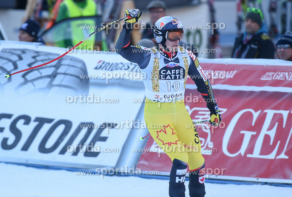 16.12.2016, Saslong, St. Christina, ITA, FIS Weltcup Ski Alpin, Groeden, Abfahrt, Herren, im Bild Erik Guay (CAN) // Erik Guay of Canada reacts after his run of men's downhill of FIS Ski Alpine World Cup at the Saslong in St. Christina, Italy on 2016/12/16. EXPA Pictures © 2016, PhotoCredit: EXPA/ Erich Spiess