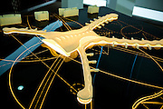 ABU DHABI, UAE - FEBRUARY 8, 2015: A scale model of the Abu Dhabi International Airport, which is currently undergoing an overall expansion.