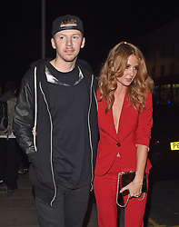 Professor Green and his wife Millie Mackintosh attend the Samsung Galaxy Alpha launch at The Collection in London, UK. 09/09/2014<br /> BYLINE MUST READ : GOTCHAIMAGES.COM<br /> <br /> Copyright by © Gotcha Images Ltd. All rights reserved.<br /> Usage of this image is conditional upon the acceptance <br /> of Gotcha Images Ltd, terms and conditions available at<br /> www.gotchaimages.com