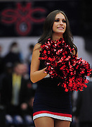 November 28, 2011; Moraga, CA, USA; Saint Mary's Gaels cheerleaders perform before the Shamrock Office Solutions Classic championship game against the Weber State Wildcats at McKeon Pavilion.