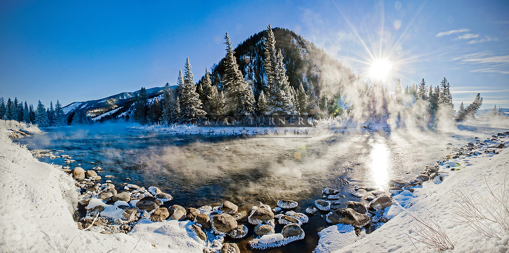 A frosty morning along the Gallatin River.  Limited Edition - 75