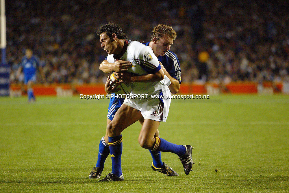 8 May, 2004. Rugby Union Super 12. Eden Park, Auckland, New Zealand. Blues v Highlanders.<br /> Ryan Nicholas.<br /> The Blues won the match, 50 - 22.<br /> Please credit: Andrew Cornaga/Photosport