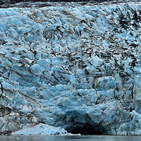 Johns Hopkins Glacier Underwater Cave in Alaska<br />