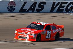 Mar 9, 2012; Las Vegas, NV, USA; Nationwide Series driver Justin Allgaier (31) during practice for the Sam's Town 300 at Las Vegas Motor Speedway. Mandatory Credit: Jason O. Watson-US PRESSWIRE