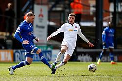 Paul Green of Oldham Athletic and Josh Vela of Bolton Wanderers - Mandatory by-line: Matt McNulty/JMP - 15/04/2017 - FOOTBALL - Boundary Park - Oldham, England - Oldham Athletic v Bolton Wanderers - Sky Bet League 1