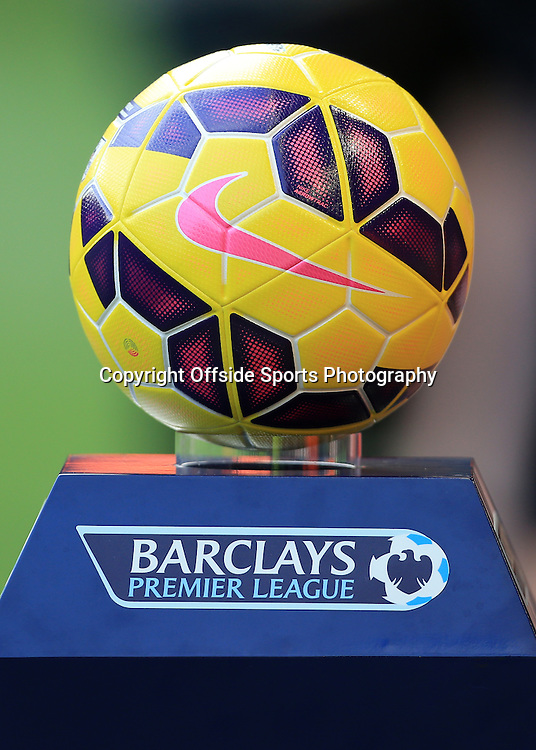 25th October 2014 - Barclays Premier League - Liverpool v Hull City - The yellow Nike Ordem winter ball - Photo: Simon Stacpoole / Offside.