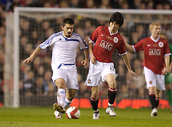 Manchester, England - Tuesday, March 13, 2007: Manchester United's Ju-sung Park in action with Europe XI's Gennaro Gattuso during the UEFA Celebration Match at Old Trafford. (Pic by David Rawcliffe/Propaganda)