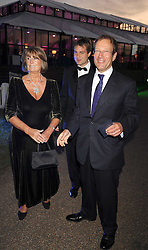 Left to right, LADY ANNABEL GOLDSMITH, BEN GOLDSMITH and RICHARD DESMOND at the Royal Parks Foundation Summer Party hosted by Candy & Candy on the banks of the Serpentine, Hyde Park, London on 10th September 2008.