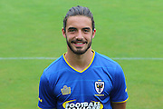 AFC Wimbledon midfielder Dan Gallagher at AFC Wimbledon Team Photo 02AUG16 at the Cherry Red Records Stadium, Kingston, England on 2 August 2016. Photo by Stuart Butcher.