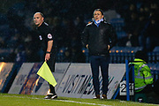 Wycombe Wanderers manager Gareth Ainsworth, assistant referee Nicholas Cooper Richard Kendall during the EFL Sky Bet League 1 match between Gillingham and Wycombe Wanderers at the MEMS Priestfield Stadium, Gillingham, England on 15 December 2018.