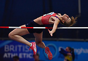 Michaela Hruba  (CZE) clears the bar during the Women's High Jump Final during the IAAF World Indoor Championships at Arena Birmingham in Birmingham, United Kingdom on Thursday, Mar 1, 2018. (Steve Flynn/Image of Sport)