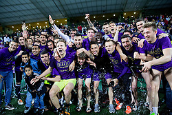 Players of Maribor celebrate after winning during football match between NK Maribor and ND Triglav in 34th Round of Prva liga Telekom Slovenije 2013/14, on May 13, 2014 in Stadium Ljudski vrt, Maribor, Slovenia. NK Maribor became Slovenian National Champion 2014. Photo by Vid Ponikvar / Sportida